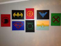 Justice League DIY wall art   My own pins   Pinterest ...