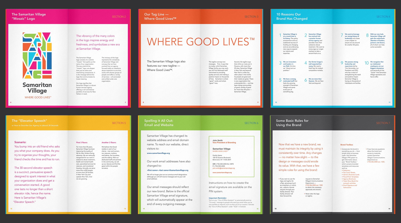 colored sections employee handbook design pinterest