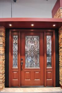 Clopay Arbor Grove Collection stained fiberglass entry ...