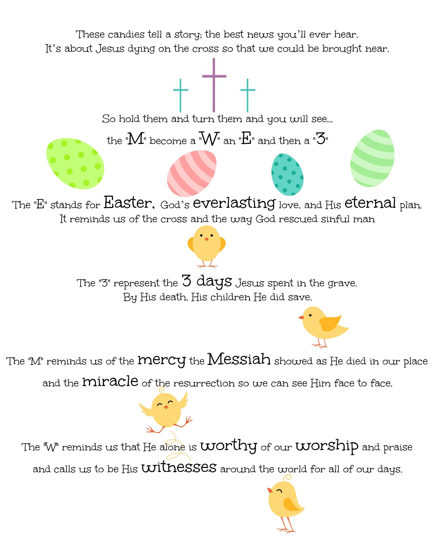 M Amp M S Easter Poem Jesus Christ Is Risen Proverbs 22 6