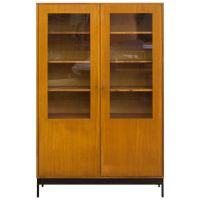 Mid-Century Science Storage Cabinet with Black Metal Base ...