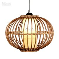"Modern 14"" Handmade Rattan Pendant Light Free Shipping"