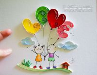 Quilling wall art Paper quilling art Love Heart Quilling ...