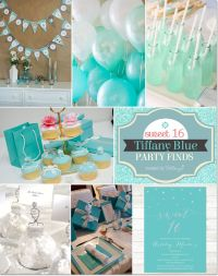 Tiffany Blue Themed Sweet 16 Party Ideas | Baby shower ...