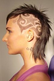 tribal hair tattoos