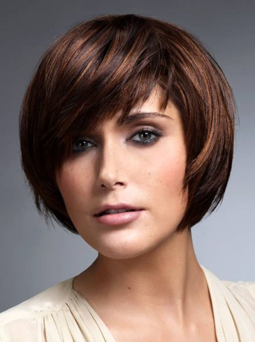 Short Layered Bob Hairstyles With Bangs For Oval Faces Water