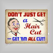 hair cut joke sign funny vintage