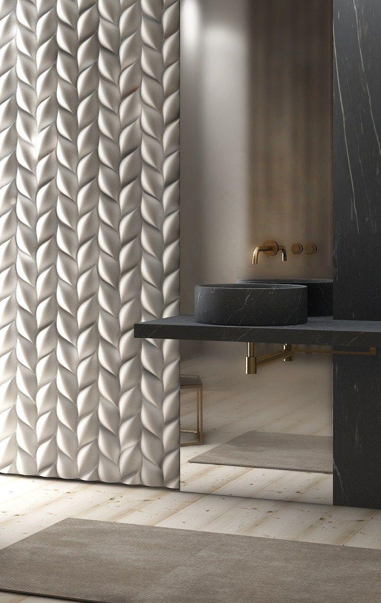 Painel de parede  treccia by surface design jacopo cecchi also beige artistic sculptural decor stone tiles wall panel rh pinterest