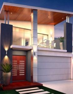 Contemporary also fachadas de casas modernas dos pisos hermosos disenos que van  rh pinterest