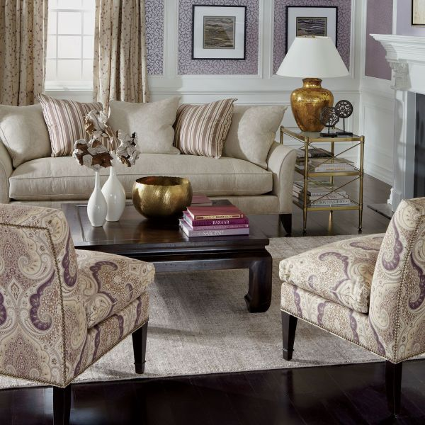 """Ethan Allen Love Living Room Sofa """"chadwick"""" And"""