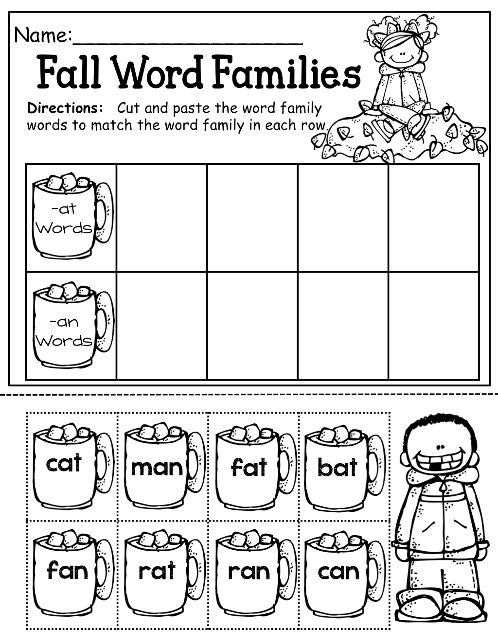 Learning Color Words Cut And Paste Worksheet