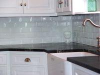 white glosssy subway tiles backsplash kitchen for small l ...