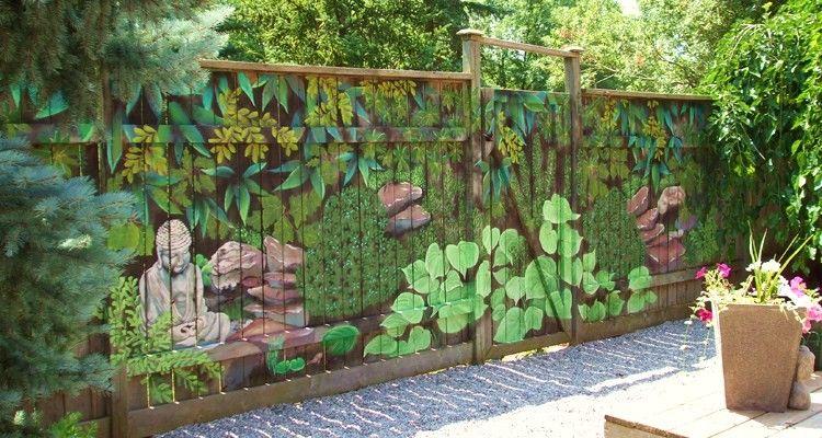 Garden Ideas Diy Mural Sart Diy Home Decorating Garden Decor Great
