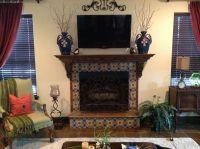 Talavera surround on fireplace.   Tile ideas   Pinterest ...