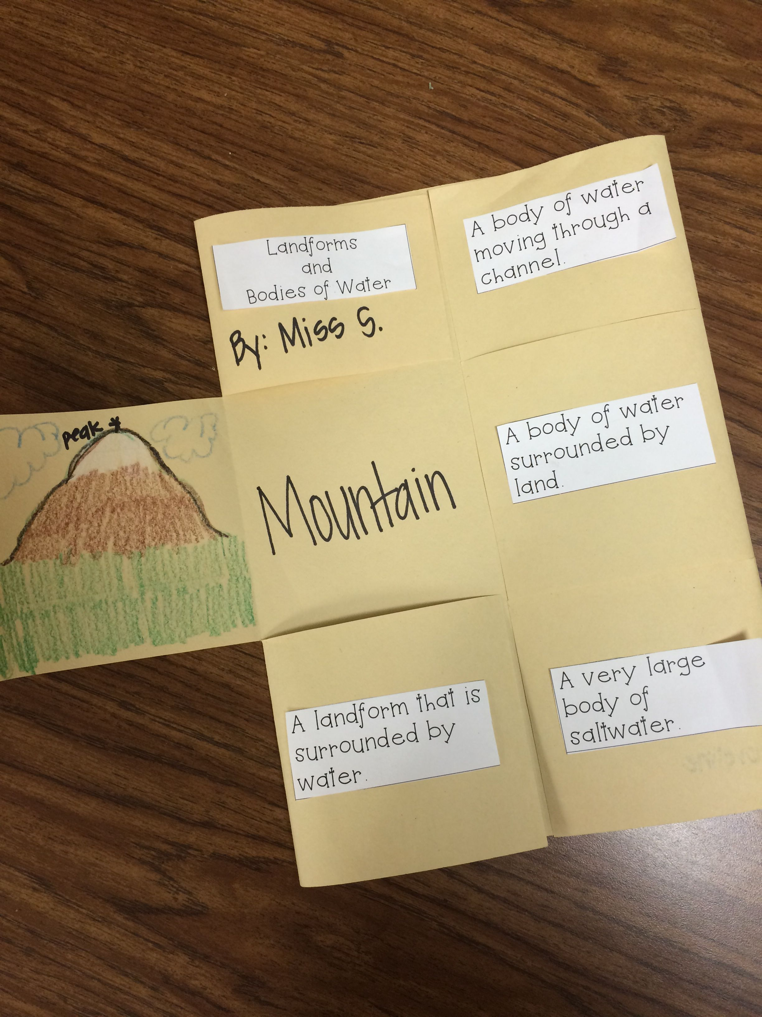 Geographical Features Foldable Freebie Includes