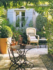 Sunny Garden Patio In Provence France Original Source