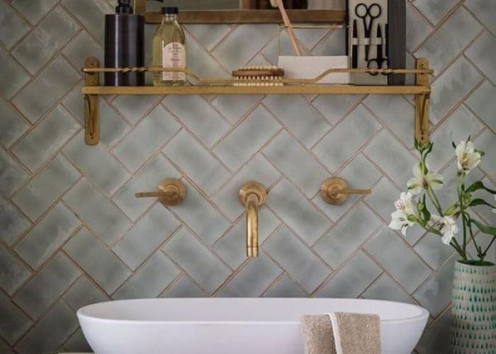 Bathroom ideas sinksbath tilesbathroom ideasbathroom inspiration grey also trend we love patterned tiles tile small space