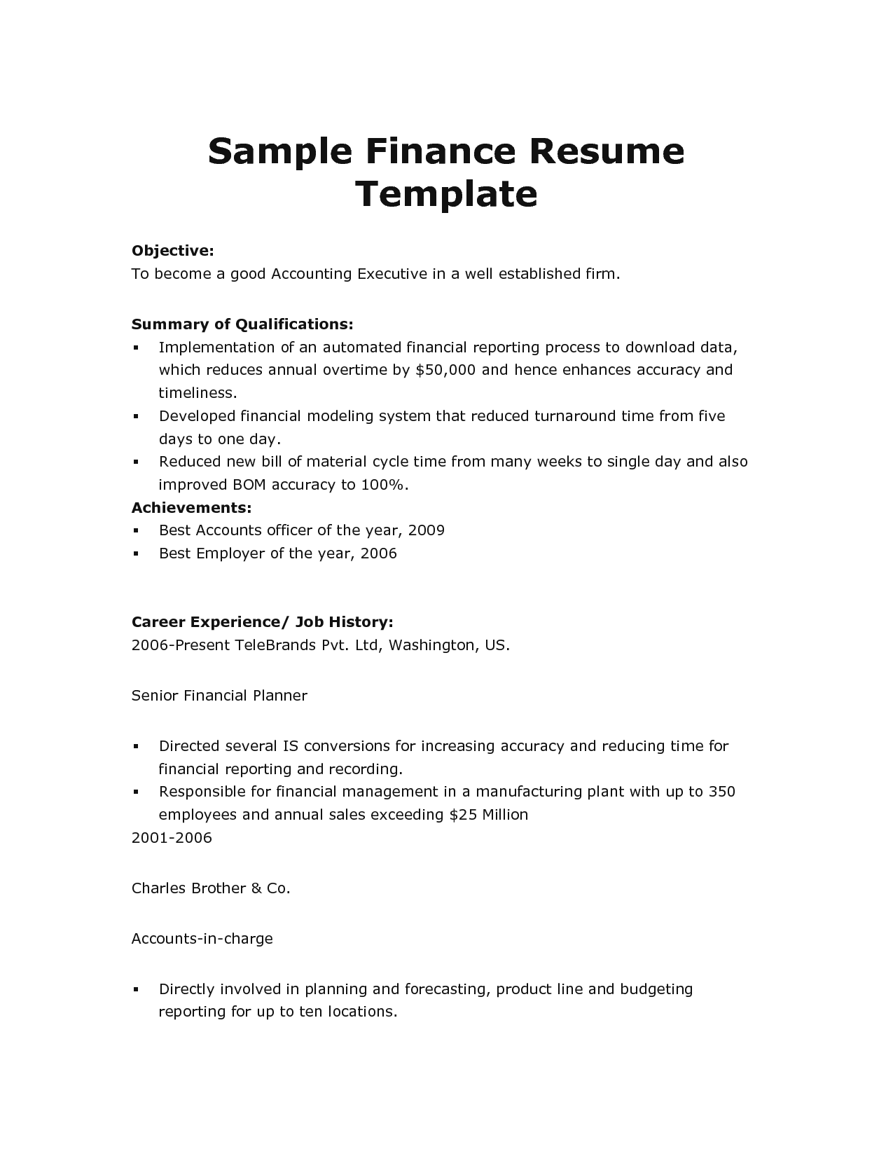 Resume Samples For Professionals Download High Quality Professional Resume Template Samples
