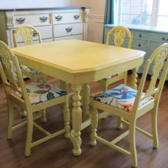 Painted Kitchen Chairs Beater Hmm My Table Might Get A Face Lift Yellow