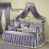 Victoria Rose Antique Ivory Wall Teester Bed Crown | Bed ...