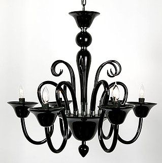 Black Murano Glass Chandelier