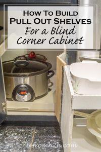blind corner cabinet pull out shelf | Roselawnlutheran