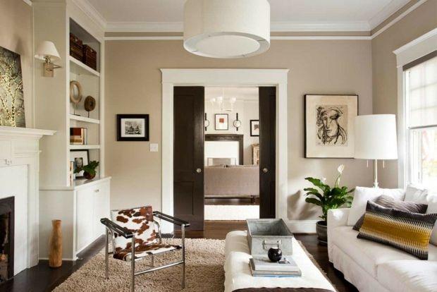 Wohnzimmer Farbe beige Schokoladenbraun hell gemtlich  Wohnzimmer Landhausstil  Pinterest