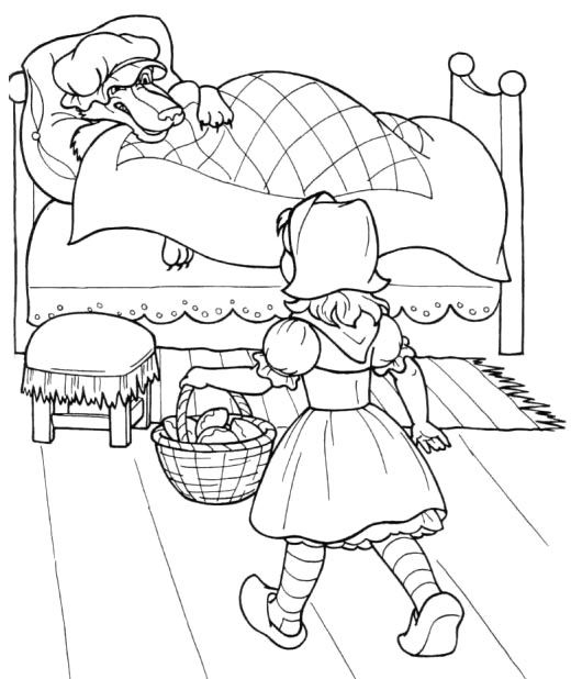 Little Red Riding Hood A Little Kid Coloring Pages