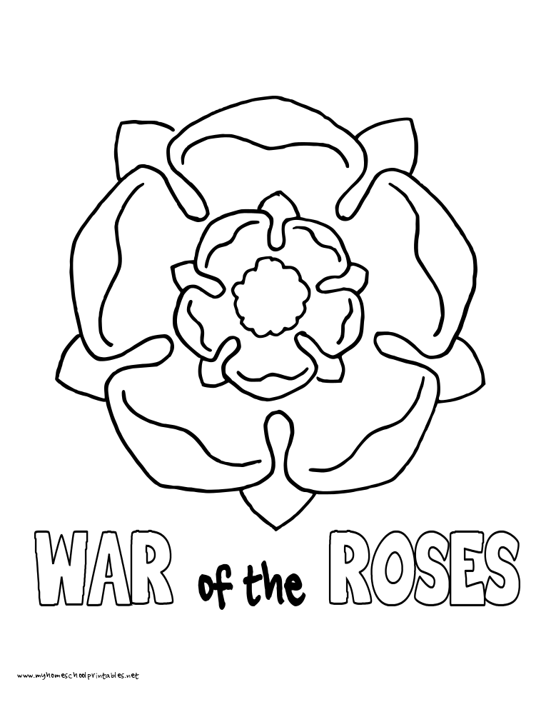 World History Coloring Pages Printables War of the Roses