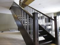 Accent Your Stairs Using Metal Stair Railing: Newels And ...