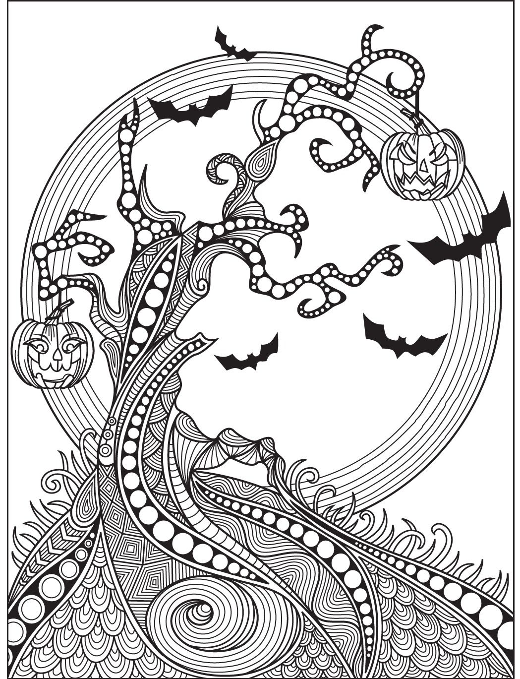 Halloween Coloring Page Colorish Free Coloring App For Adults