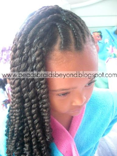 Double Twist On The Scalp And Three Strand Twist CUTE! Hair