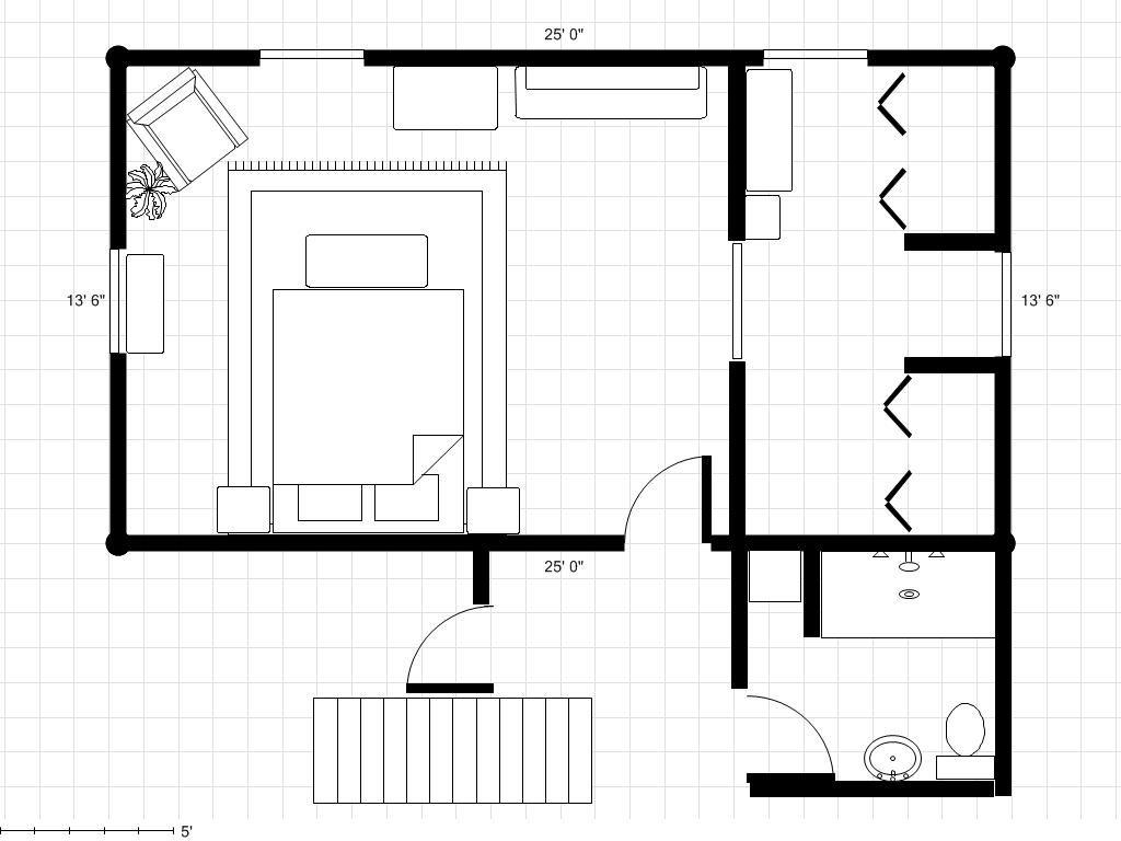 30' x 18' master bedroom plans