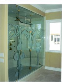 extra large glass 2 panel shower door | Riverbank, Ca ...