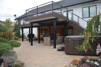 Modern/Contemporary low maintenance second story deck ...