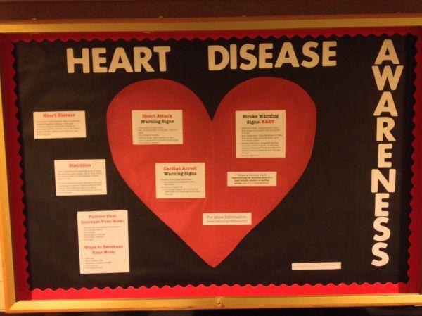 Heart Disease Awareness Month Educational Bulletin Board