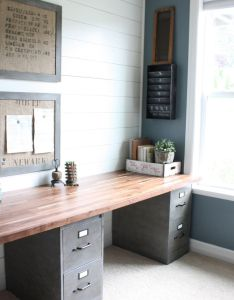 Clean and functional office with an industrial rustic look labor junction home improvement also best images about study on pinterest ikea rh