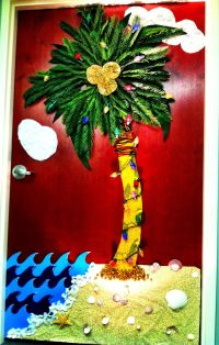Hawaiian Christmas Door Decoration