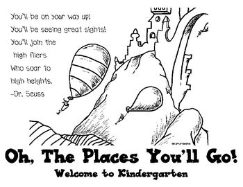 This is a postcard to welcome your new kindergarteners to