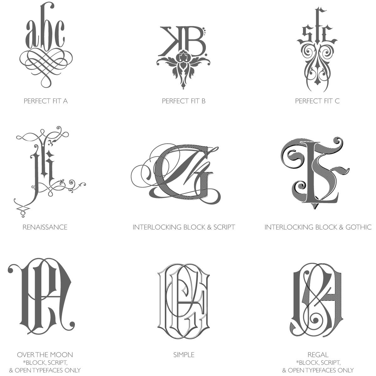 Bell Invito Category C Monograms Are Intricately