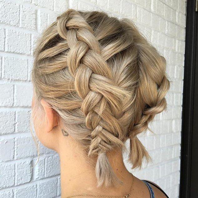Even short hair can pull of braids! Double Dutch braids