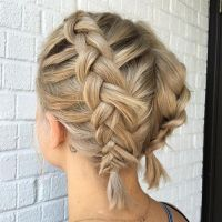 Even short hair can pull of braids! Double Dutch braids