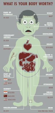 Image result for how much are r body parts worth on the illegal body harvesting market?