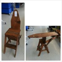 Antique chair, step stool & ironing board | Antique ...