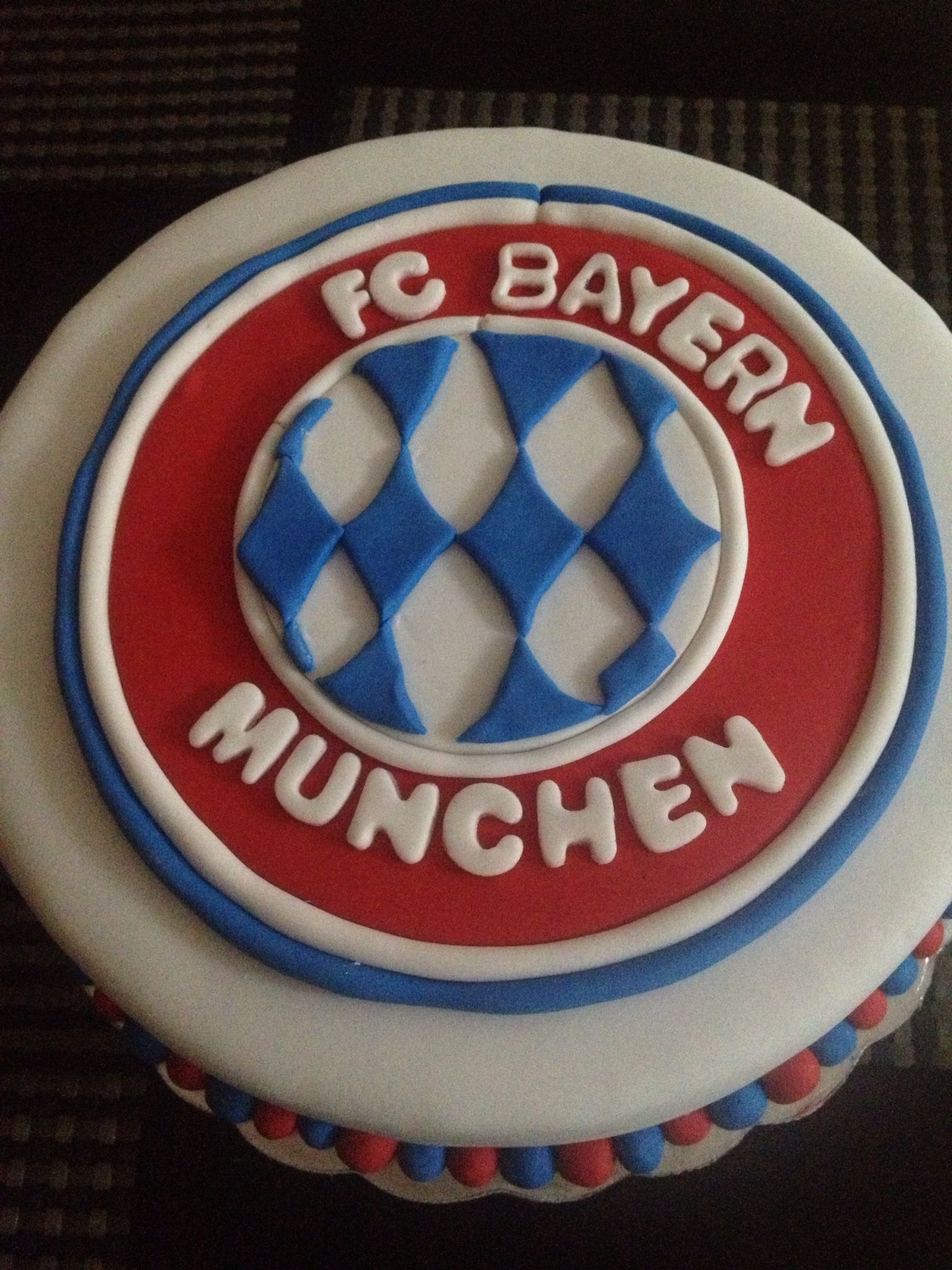 Bayern Munchen Cake made for my son  Cakes  Pinterest  Bayern Cakes and My son