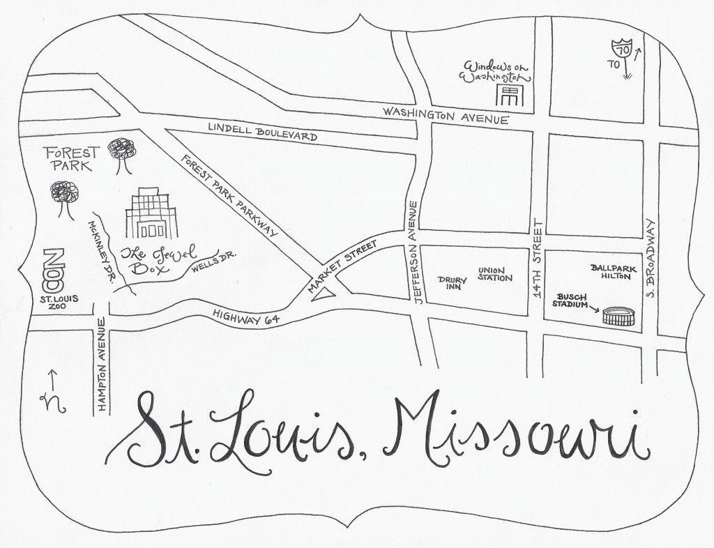 Fun hand drawn map for wedding directions...I like this