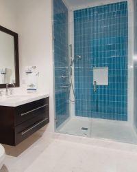 Blue Glass Tile Shower | www.pixshark.com - Images ...