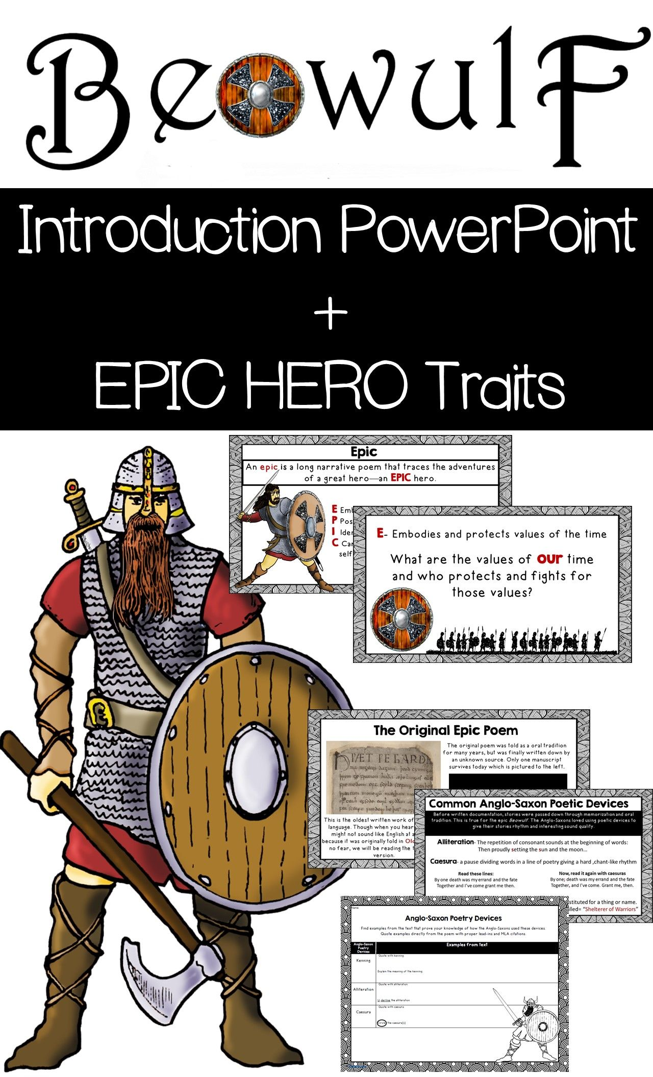 Beowulf Introduction Beowulf Epic Hero Traits And