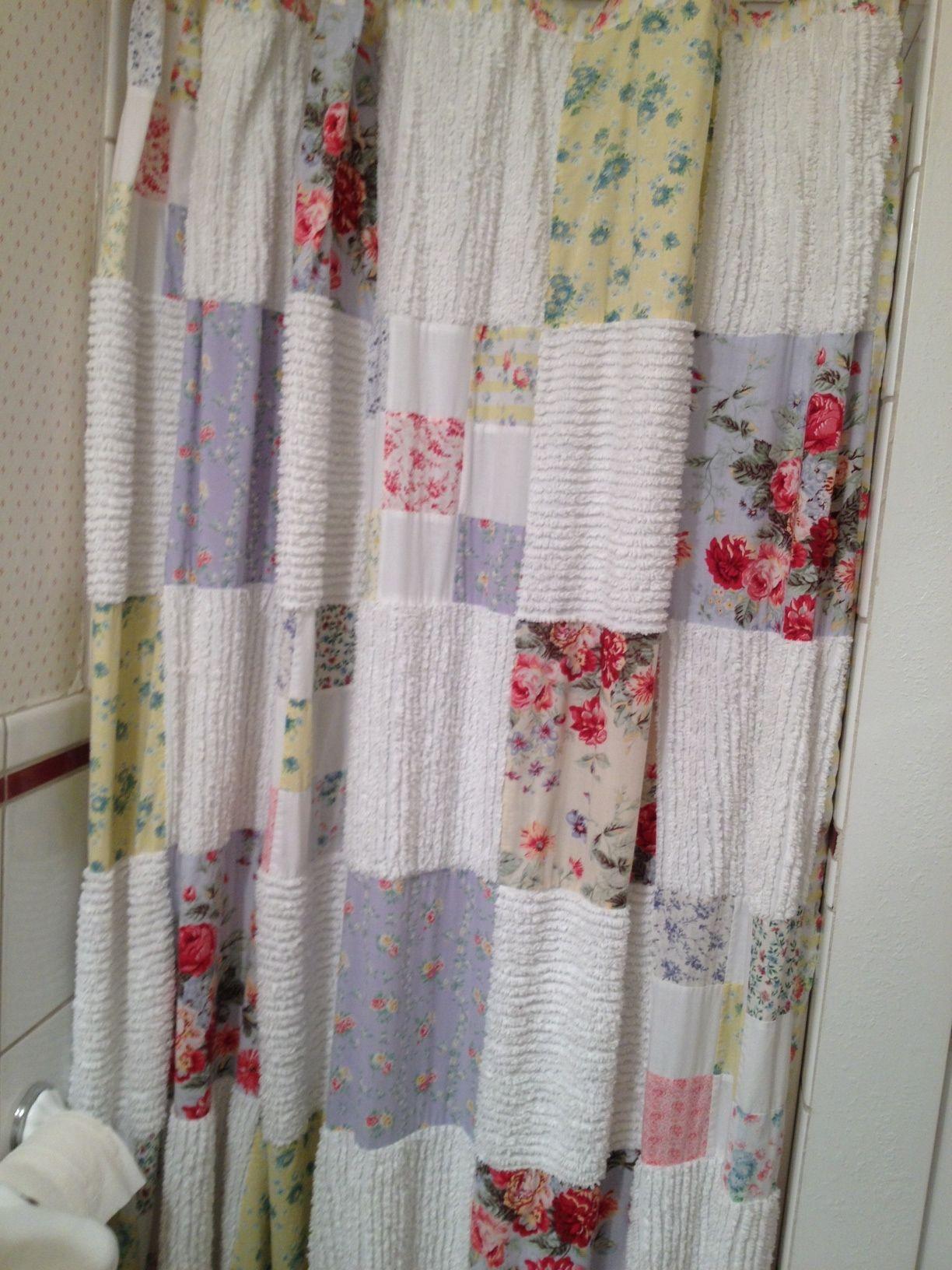 patchwork shower curtain  patchwork ideas  Pinterest  Patchwork