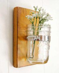 wall sconce wood vase glass vase primitive decor by ...